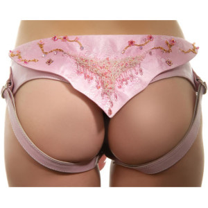 Shiri Zinn harness pink back